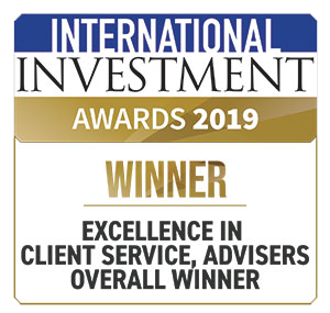 International Investment Award Winner - Excellence in client service